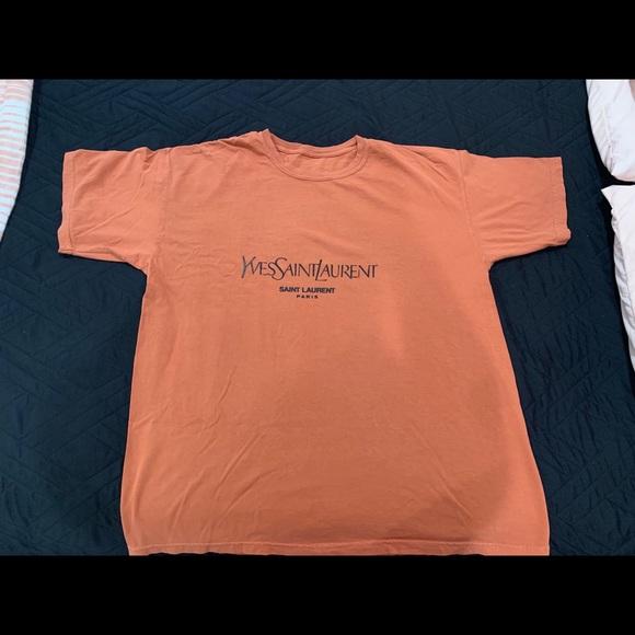 163a12c79df Yves Saint Laurent Tops | Burnt Orange Yves Tee | Poshmark
